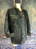 Vintage 80s Bad Boy Stonewashed Jean Denim Jacket SMALL / MED MENS Heavy Weight
