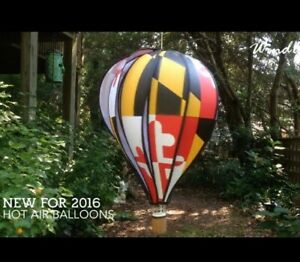 "Maryland Large 22"" Hot Air Balloon Wind Spinner Premier Designs"
