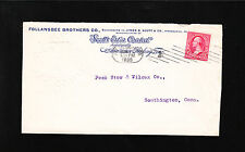 Follansbee Bros Metal Tin Roofing Pittsburg 1899 Machine Cancel Embossed Cover $