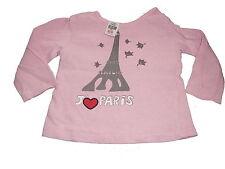Zara tolles Langarm Shirt Gr. 62 / 68 rosa mit Paris Motiv !!