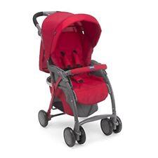Poussette de promenade rouges Chicco pour bébé