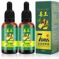 2 PCS Regrow 7 Day Ginger Germinal Hair Growth Serum Oil Loss Treatment