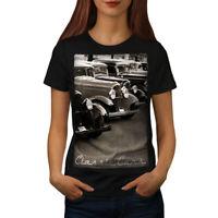 Wellcoda Classic Cars Womens T-shirt, Retro Casual Design Printed Tee