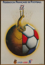 Affiche Originale Luigi Castiglioni Fédération Française de Football 1919 / 1994