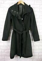 Portmans Jacket Coat Black Longline Sz 8