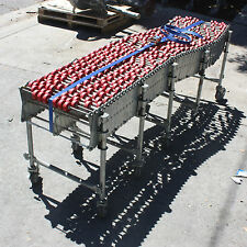 Heavy Duty Industrial Box Scissor roller Conveyor on castors 7m max expansion