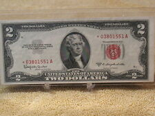 "1953 C $2 RED SEAL ""STAR"" NOTE- A VERY HIGH GRADE GEM + NOTE..."