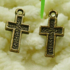 Free Ship 450 pieces Antique bronze cross charms 16x8mm S1805