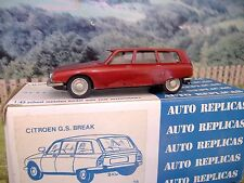 1/43 AUTO REPLICAS(England) Citroen G.S break Handmade White Metal Model Car Kit