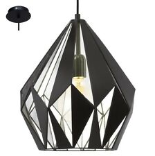 Lampadario vintage D.31 nero e argento a 1 luce GLO 49255 Carlton 1