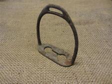 Vintage Cast Iron Stirrup > Antique Old Western Horse Bits Farm Bridles 8964