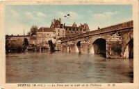 CPA Durtal (M.-et-L.) - Le Pont sur le Loir et le Chateau (253819)