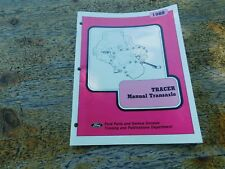 1988 MERCURY TRACER MANUAL TRANSAXLE FACTORY FORD SERVICE SHOP MANUAL