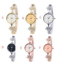 Women Fashion Watch Crystal Stainless Steel Dress Quartz Wrist Watches