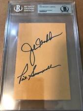 John Madden+Pat Summerall Hand Signed Page Football Legends Jsa Slabbed