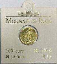 PIECE DE 100 EURO EN OR (2008) - LA SEMEUSE - LA MONNAIE DE PARIS