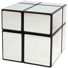 Shengshou 2x2x2 mirror bloque Magic Cube plata