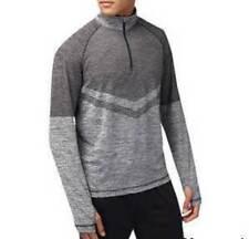 Burton Sports Grey Chevron Zip Neck Top - Size: XL