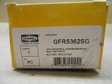 1 NIB HUBBELL HBLGFR5362SG GFR5362SG GRDG INDUSTRIAL TAMPER RESISTANT 20A 125V
