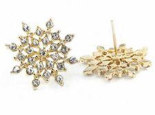 Boho Festival Party Boutique Uk Gold Crystal Star Snowflake Fashion Earrings