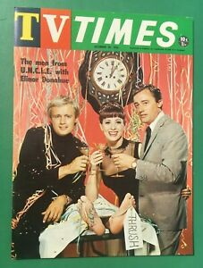 """1966 MAN FROM UNCLE """"TV TIMES"""" Cover Australia TV Guide Robert Vaughn"""