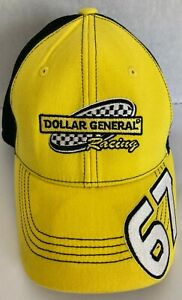 2008 Sarah Fisher 67 Dollar General Yellow & Black Indy One Fit Racing cap hat