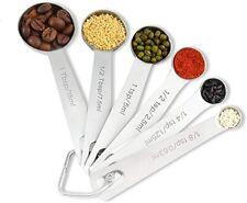 6PCS Measuring Spoons Set, Stainless Steel Metal Kitchen Measuring Tools Set