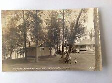 Photo Postcard Minnesota Leech Lake Piefer's Haven Motel RPPC Chrome.1943. (A1).