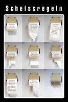 Scheissregeln Blechschild Metallschild Schild gewölbt Metal Tin Sign 20 x 30 cm
