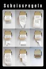 Scheissregeln Blechschild Schild Blech Metall Metal Tin Sign 20 x 30 cm