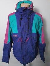Vintage Columbia Purple & Neon Green Color Block Nylon Jacket Mens Size L
