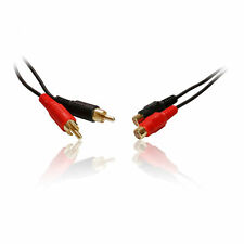 10m 33' Feet Male to Female Twin 2 x RCA Phono Extension Cable/Lead/Wire GOLD