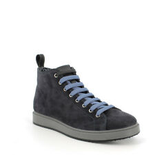 High Sneakers Desert Boots IGI&CO 8124700 Suede Blue Made IN Italy