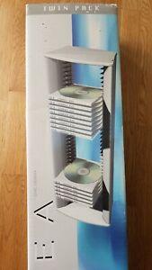 Linea 36 CD Tower x 2. 2 CD racks hold 36 CDs each wall mounted/freestanding