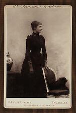 La princesse Clémentine de Belgique Royalty Photo cabinet card Géruzet Bruxelles
