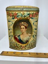 More details for superb young queen victoria soldier & sailor royal biscuit tin c1897 royalty