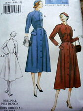 1950s VOGUE VINTAGE MODEL DRESS SEWING PATTERN 14-16-18-20-22-24 UC