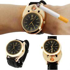 Men USB Rechargeable Lighter Watch High-grade Wristwatch Windproof Flameless
