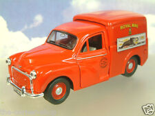 "SAICO 1/26 DIECAST MORRIS MINOR VAN ROYAL MAIL RED ""POST EARLY"" PULL-BACK MOTOR"