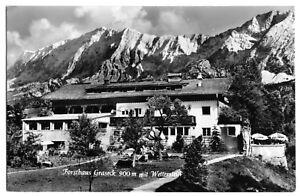 AK, Garmisch-Partenkirchen, Forsthaus Graseck mit Wetterstein, 1959