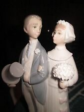 Lladro Wedding Day Bride & Groom Couple #4808 Julio Fernandez Retired