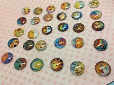 Sun and moon glass cabochon pictures 16mm in diameter make earring pendant charm