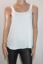 COTTON ON Brand White Chiffon Melissa Tank Top Size XS BNWT #SP43