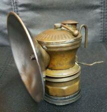 New listing Vintage Miners Light Auto-Lite Carbide Light Universal Lamp Co. Brass Lantern