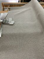 "Railroaded Foreshore Granite Ticking Stripe Upholstery Fabric 54"" By The Yard"