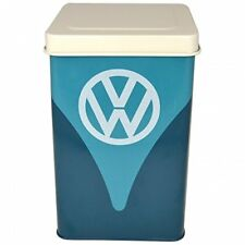 NEW VW CAMPER VAN CAMPERVAN ORIGINAL LOGO BLUE RECTANGLE STORAGE TIN