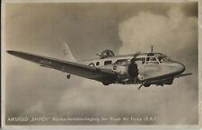 Postcard 1417 - Aircraft/Aviation Real Photo Airspeed Envoy Royal Air Force