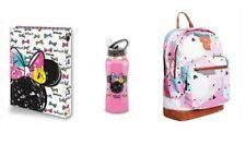Disney Bundle Minnie Mouse High-School Back Pack Bag Binder Bottle