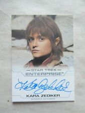 STAR TREK ENTERPRISE SEASON 4 AUTOGRAPH CARD -KARA ZEDIKER  AS T'PAU