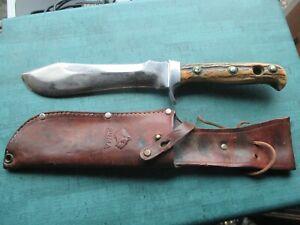 """Abercrombie & Fitch Co. Made in German Pre-64 PUMA WHITE HUNTER knife & Sheath"